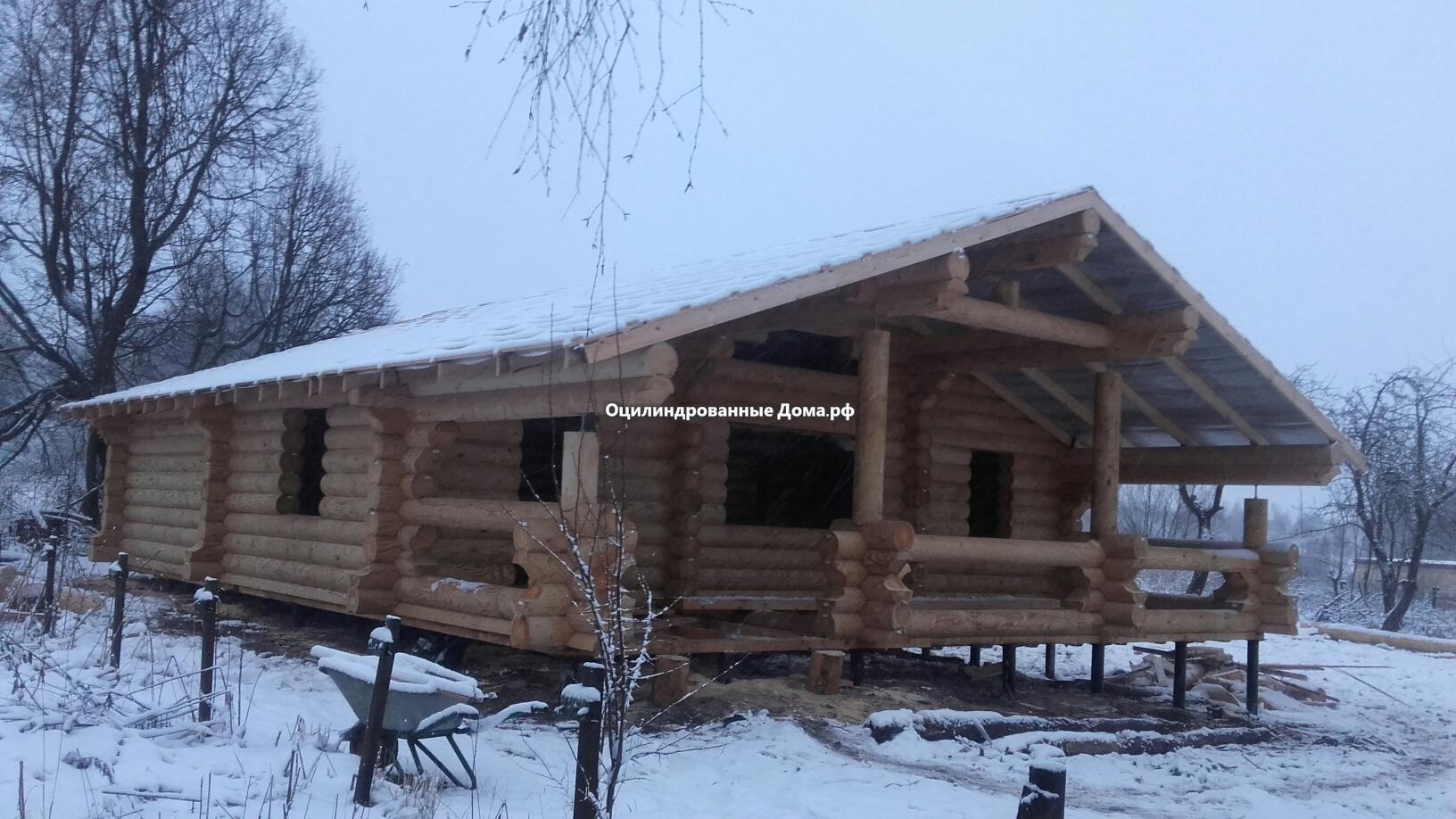 Дом из бревна Деревенский