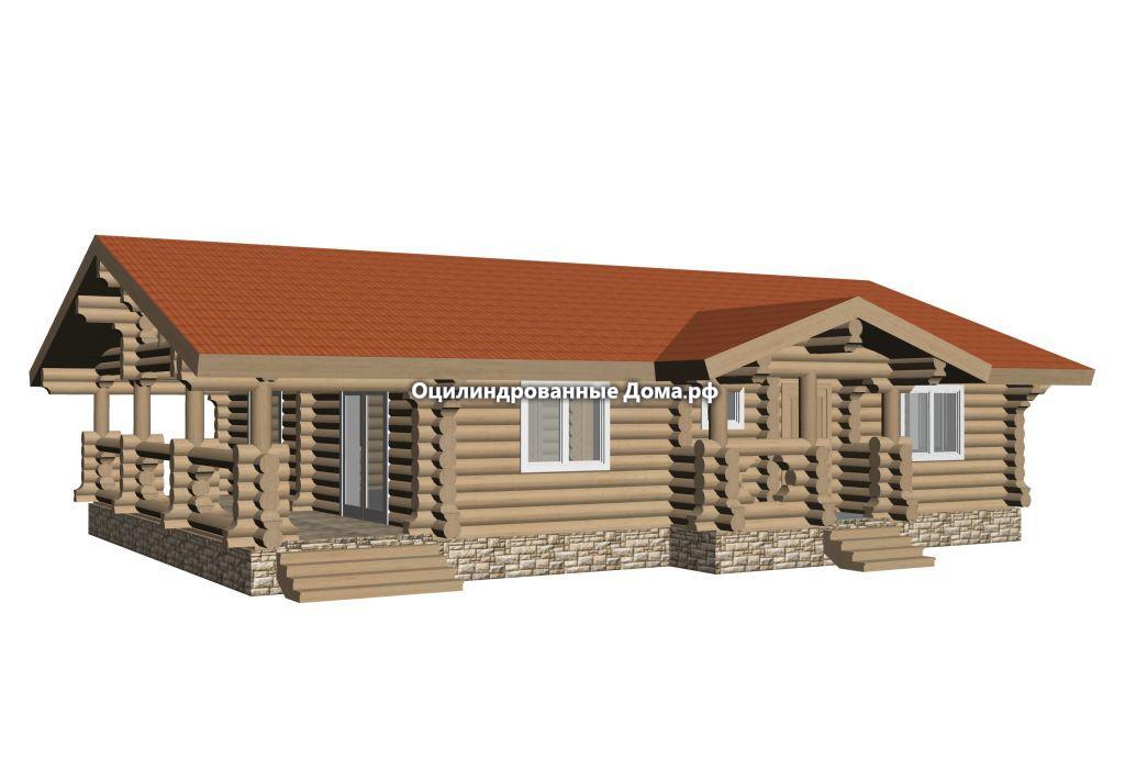 Дом в Деревне из бревна