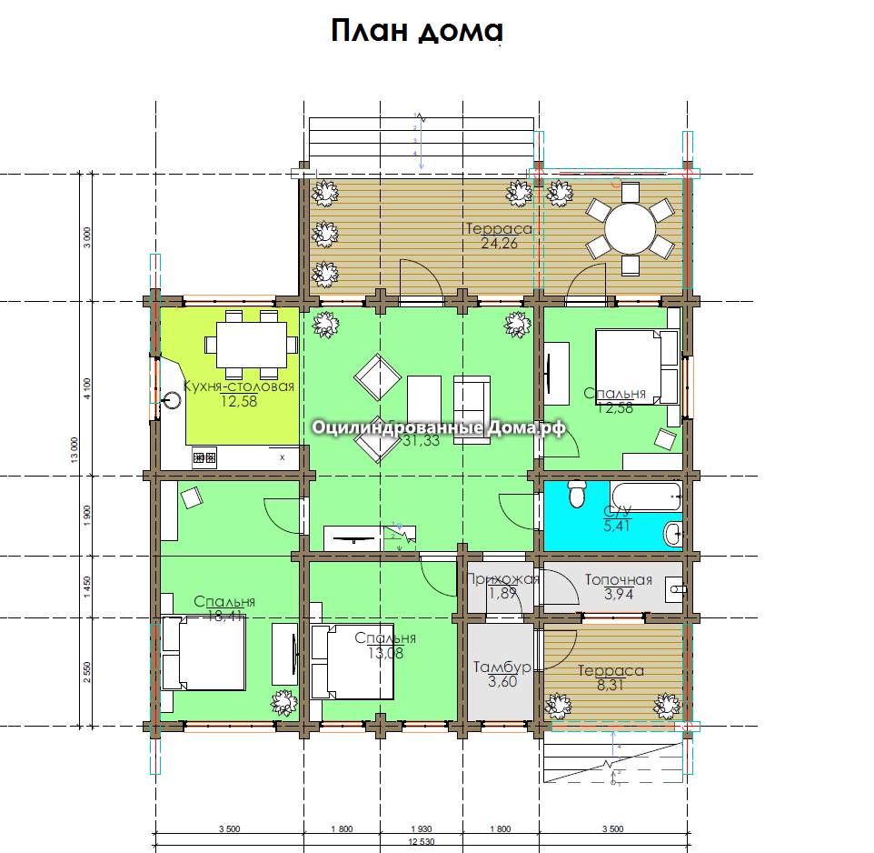 План дома Монблан