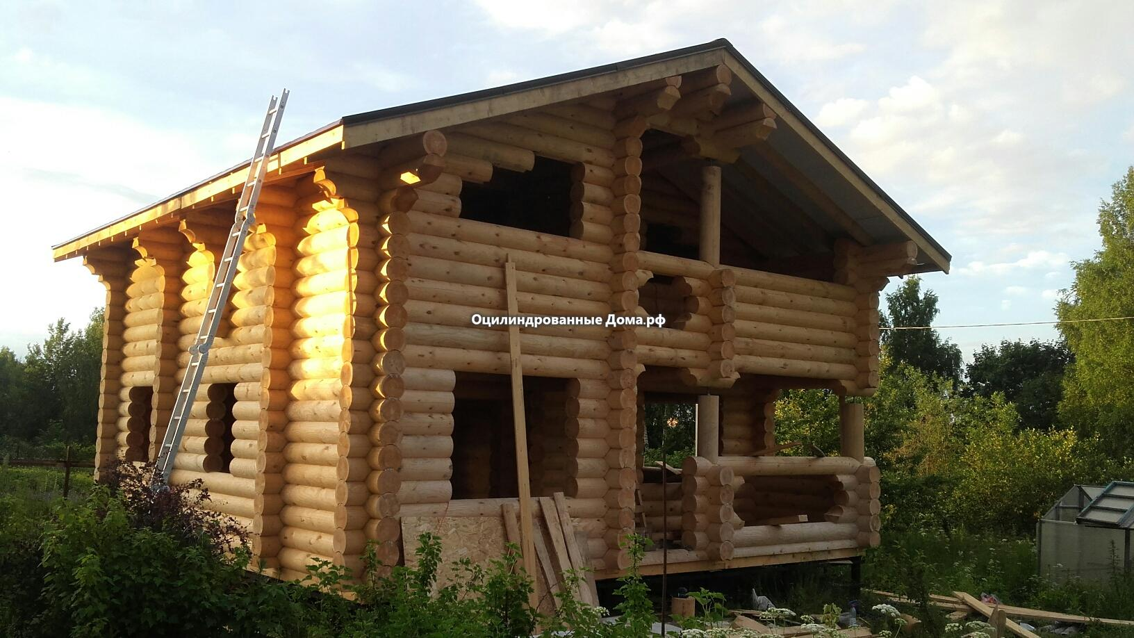 Фото дома из оцилиндрованного бревна Крекшино2(8 х 8)