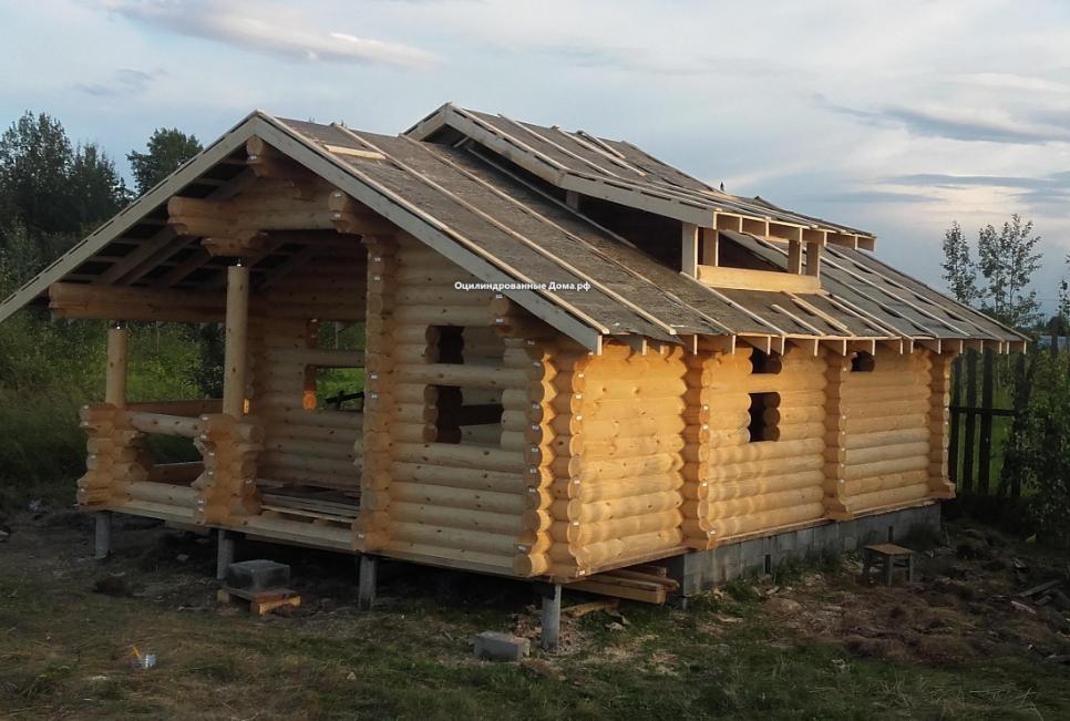Дом одноэтажный из бревна