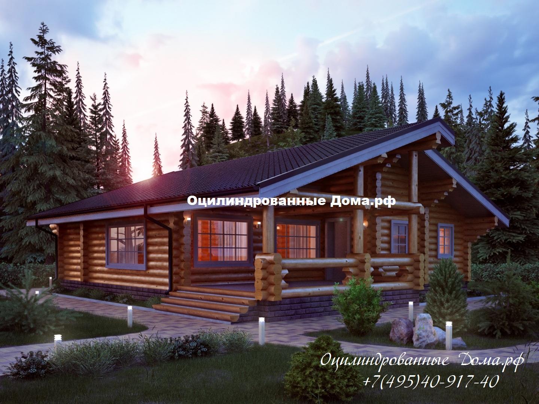Проект одноэтажного дома из ОЦБ Кольчугино - 124м2(11м х 12м)