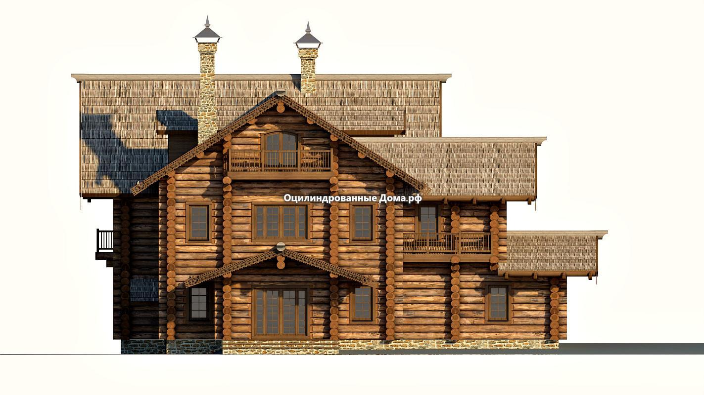 Дома из бревна в сторорусском стиле