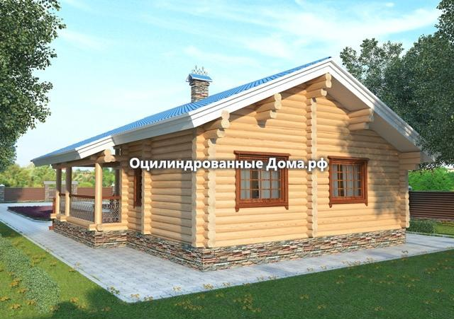 Дом из бревна Алтай 114м2