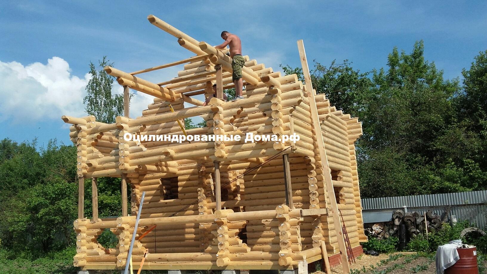 """Дом с мансардой из бревна """"Сказка"""" - 78м2 (7мх5,5м)"""