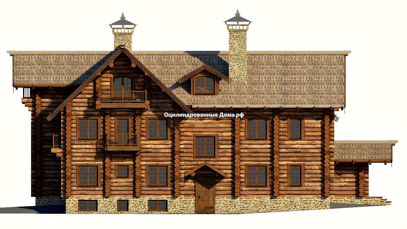 Дома из бревна в древнерусском стиле
