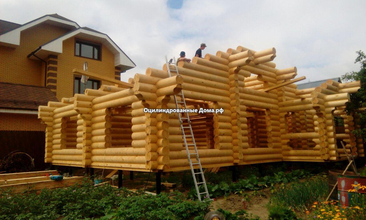 Дом - баня из бревна