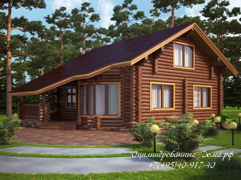 Проект дома из оцилиндрованного бревна ЛЕСНАЯ СКАЗКА