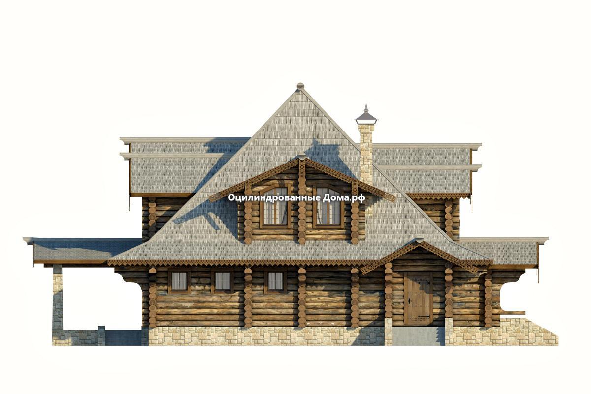 Дома из бревна в сторорусских традициях руси