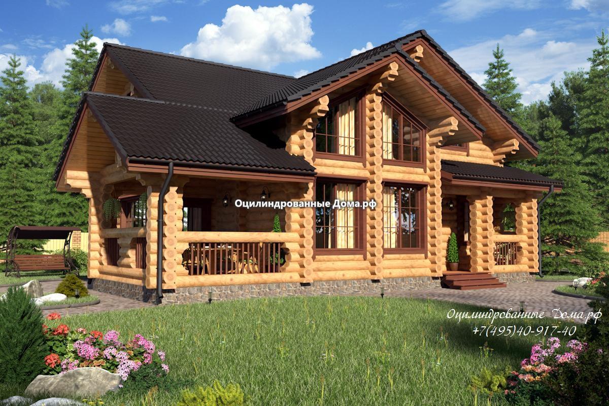 Дом Дубрава проект из бревна