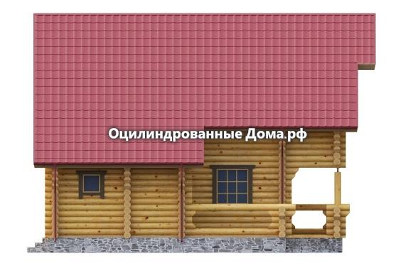 дом из оцилиндрованного бревна Жемчужина Крыма