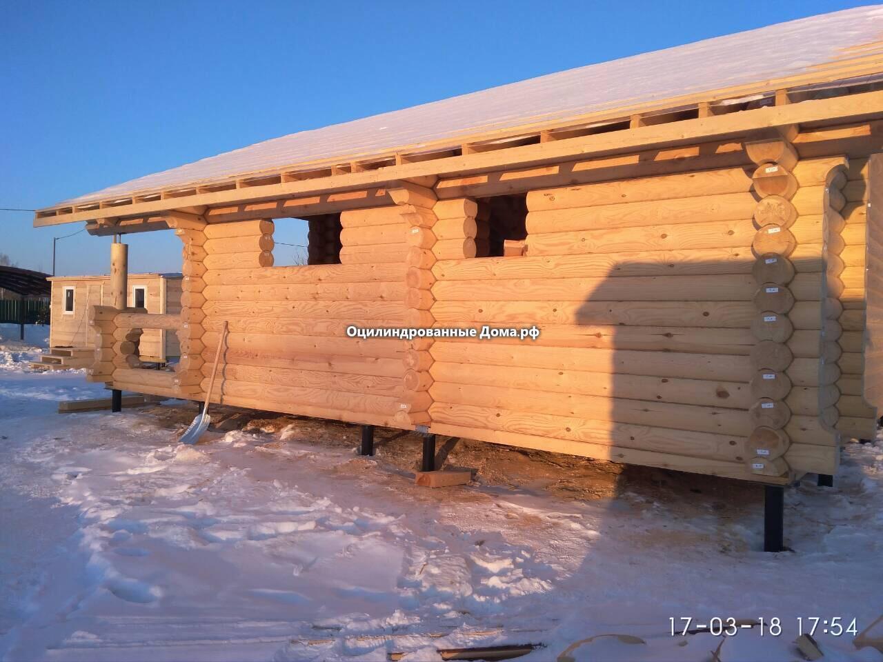 Проек дома Дачник из бревна