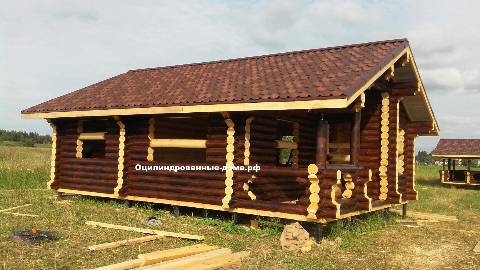 фото дом из бревна Дачник