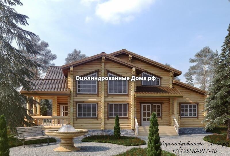 Проект дома Дубрава из оцилиндрованного бревна