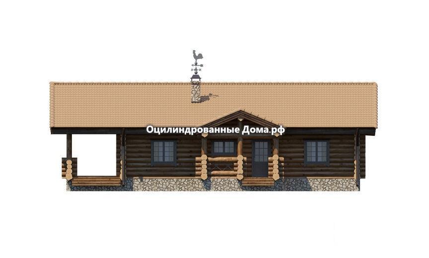 """Проект одноэтажного сруба """"Дом в Деревне"""" - 140м2(10,9м х 14,2м)"""